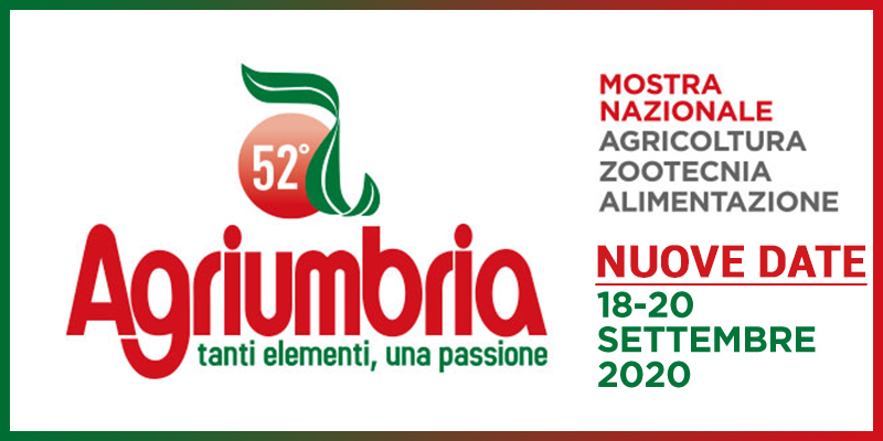Agriumbria 2020: the future of zootechincs, agriculture and nutrition