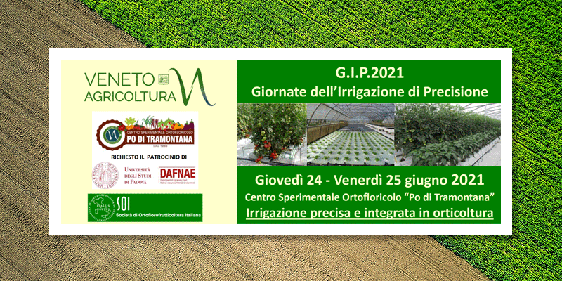 G.I.P. 2021: Precision Irrigation Days for sustainable agriculture