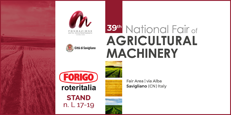 National Fair of Agricultural Machinery 2020: 39^ edition